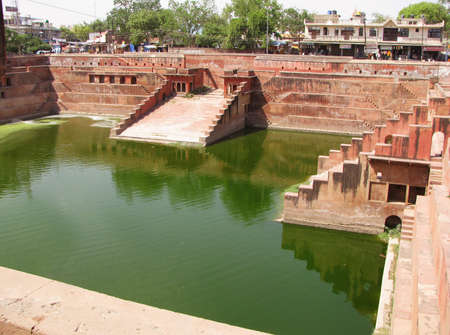 Traditional kund or bathing places for queens known as BAORI located in Rajasthan, India