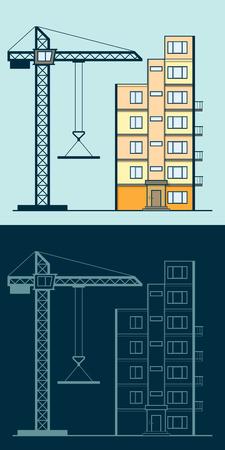 Der Bau der Gebäude Standard-Bild - 74903857