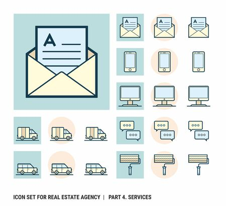 Icon set for real estate agency. Part 4. Services