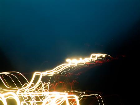 Night views from the car Foto de archivo