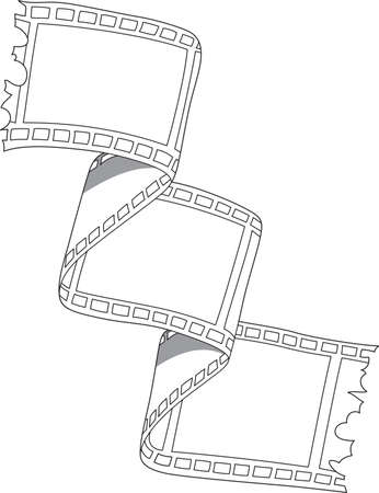 Illustration of 36 mm film with copy space for your pictures