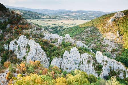 Landscape with rocky mountains near Soko Banja, Serbia. Stock fotó