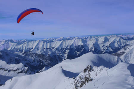 Parasailing in the Swiss Alps