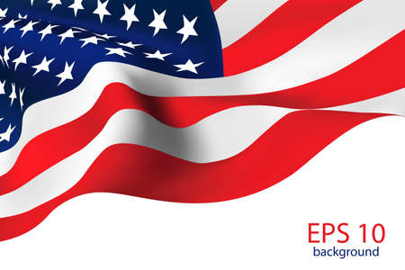 american flag background: American Flag - Old Glory flag  Illustration