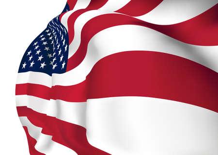 american flag waving: American Flag Mesh  Illustration