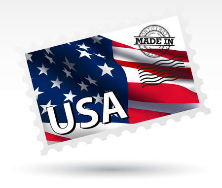 MADE IN USA STAMP  Vector