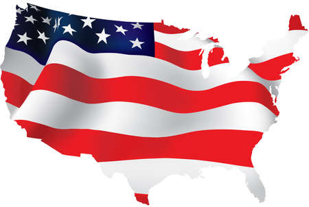 american flag waving: Flag of America