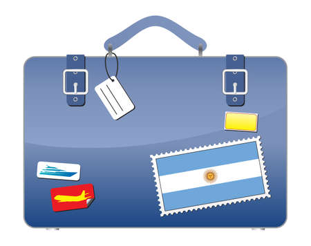 Travel Suitcase Argentina flag  Illustration