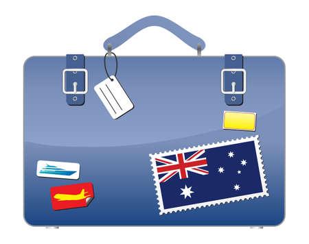Travel Suitcase Australia flag