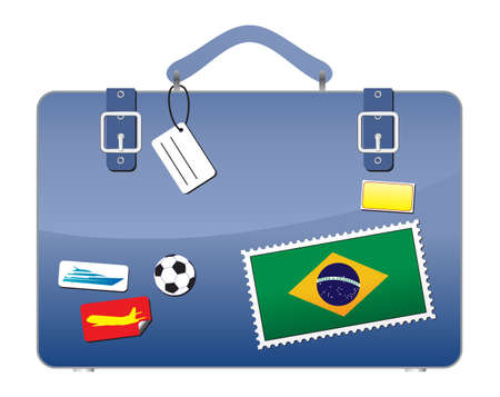 Travel Suitcase Brazil flag