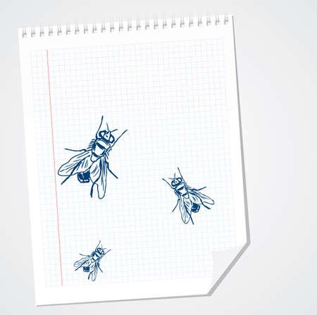 Flies doodle
