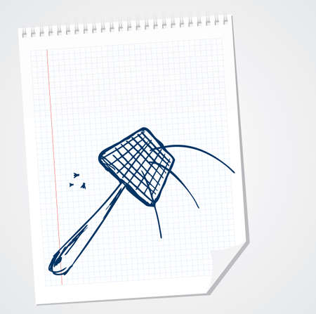 FLY SWATTER doodle Illustration