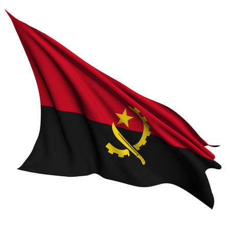 Angola flag Stock Photo