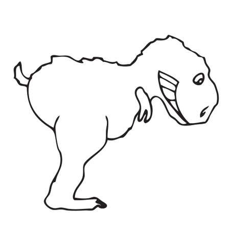 trex: Funny T-rex doodle