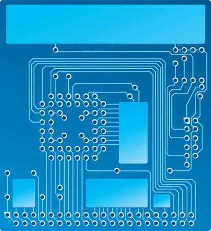 Blue Circuit board design Illustration