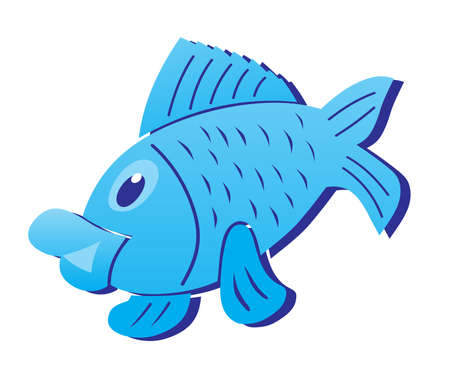 Fish cartoon sign