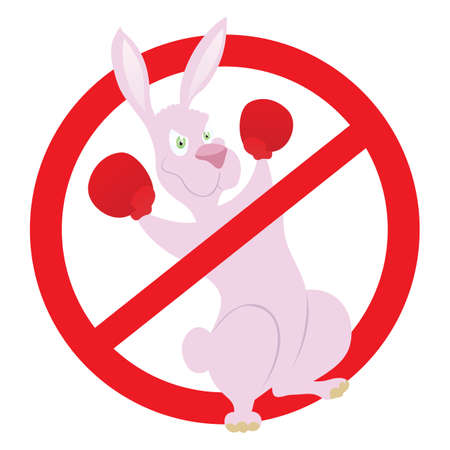 No fighting rabbit Vector