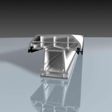 White aluminum T profile  photo
