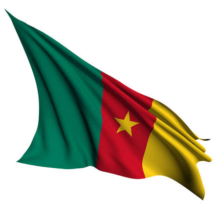 cameroon: Cameroon flag- collection no_4  Stock Photo