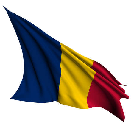 chad: Chad flag- collection no_4 Stock Photo