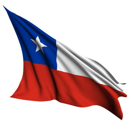 bandera chile: Chile bandera colecci�n no_4 Foto de archivo