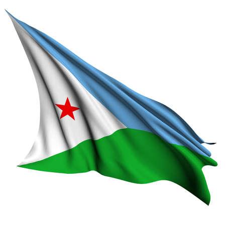 djibouti: Djibouti flag - collection no_4  Stock Photo