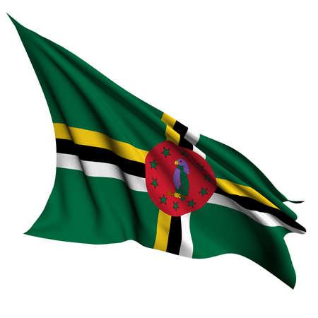 dominica: Dominica flag   Stock Photo