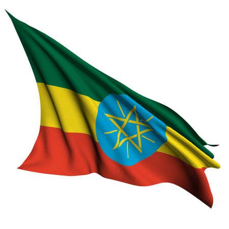 ethiopia abstract: Ethiopia flag - collection no_4