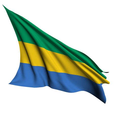 gabon: Gabon flag - collection no_4