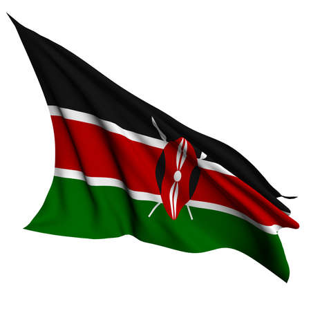 kenya: Kenya flag - collection no_4  Stock Photo
