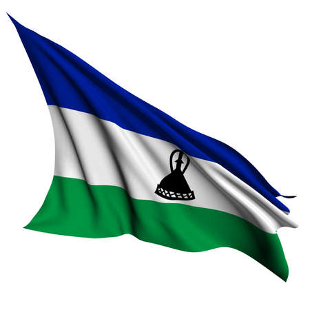 lesotho: Lesotho flag - collection no_4  Stock Photo