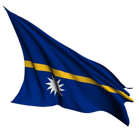 nauru: Nauru flag  Stock Photo