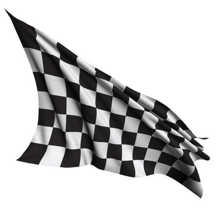formula one: Finish flag Stock Photo