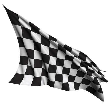formula 1: Finish flag Stock Photo