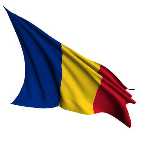 romania: Romania flag  Stock Photo
