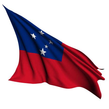 samoa: Samoa flag  Stock Photo