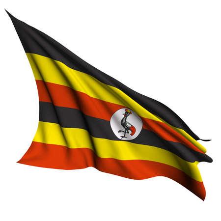 uganda: Uganda flag  Stock Photo