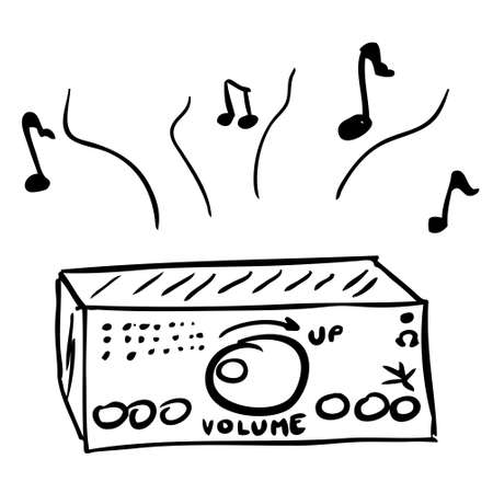 plucking an instrument: Music Element doodle