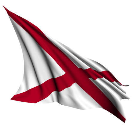 alabama flag: Alabama flag - USA state flags collection no_2