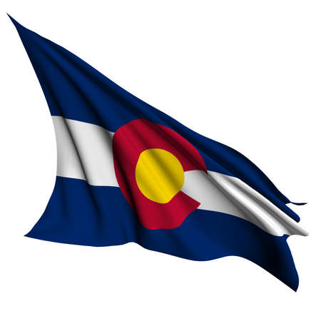 colorado flag: Colorado flag - USA state flags collection no_2