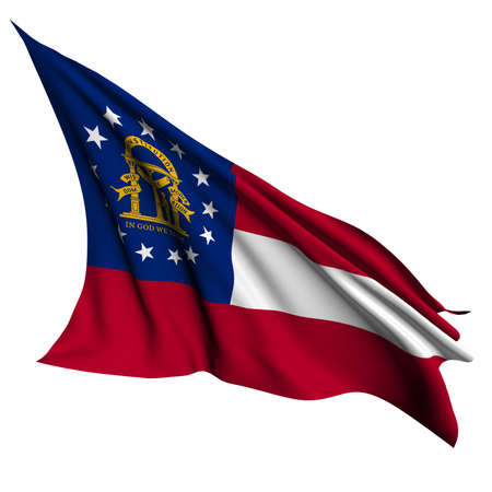 georgia flag: Georgia flag - USA state flags collection no_2  Stock Photo