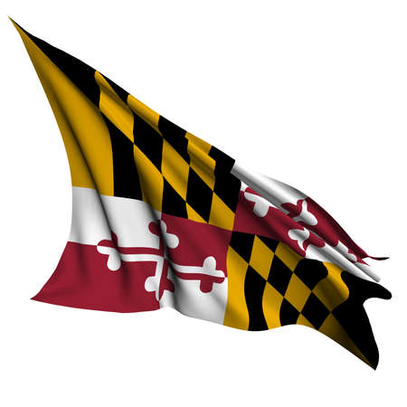 maryland flag: Maryland flag - USA state flags collection no_2