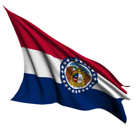 Missouri flag - USA state flags collection no_2  Stock Photo - 17057026