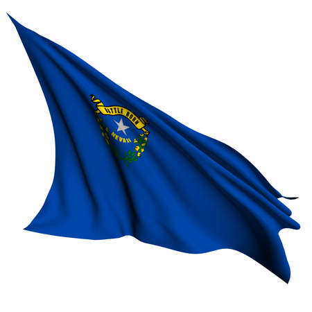 nevada: Nevada flag - USA state flags collection no_2  Stock Photo