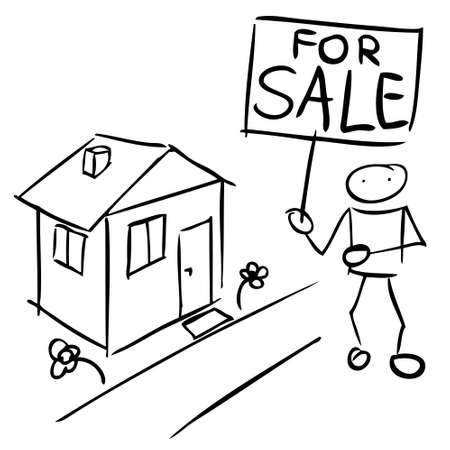 Doodle man sales house Stock Vector - 17508968