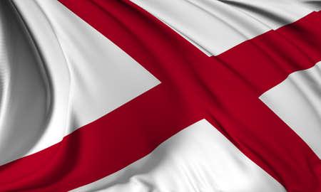 Alabama flag - USA state flags collection Stock Photo - 17685899