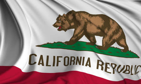 california flag: California flag - USA state flags collection Stock Photo