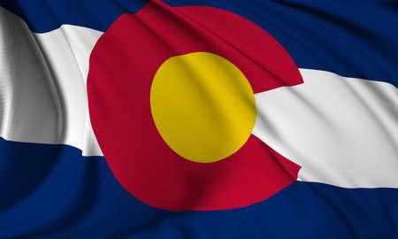 colorado flag: Colorado flag - USA state flags collection