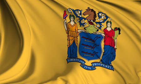 New Jersey flag - USA state flags collection Stock Photo