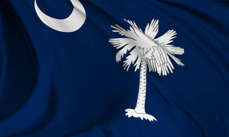 South Carolina flag - USA state flags collection
